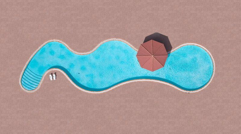 αεροφωτογραφία από πισίνα