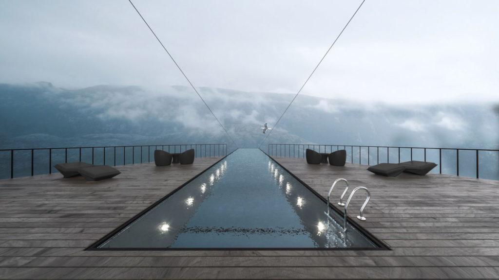 γυάλινη πισίνα
