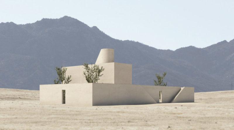 μίνιμαλ σπίτι στην έρημο του τέξας